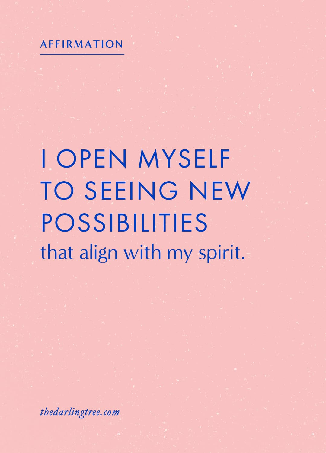 I open myself to seeing new possibilities