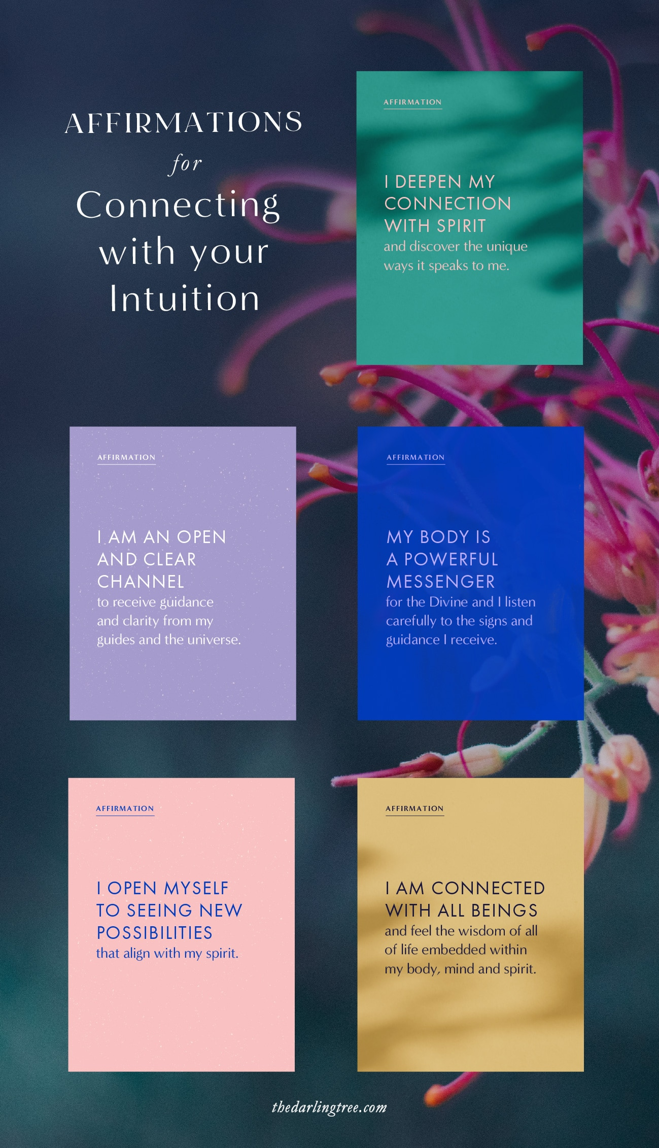 Affirmations for connecting with your intuition