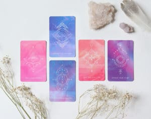 New Moon Oracle Card Spread