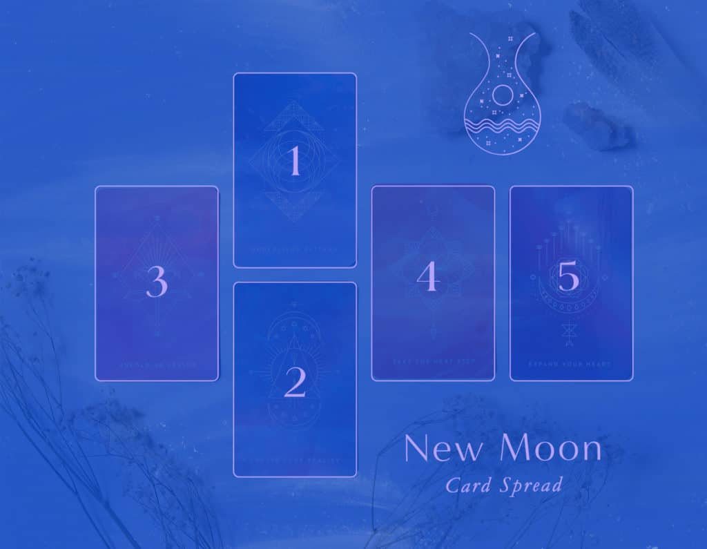 New Moon Oracle Card Spread - A 5-card spread you can include as part of your new moon practice each cycle