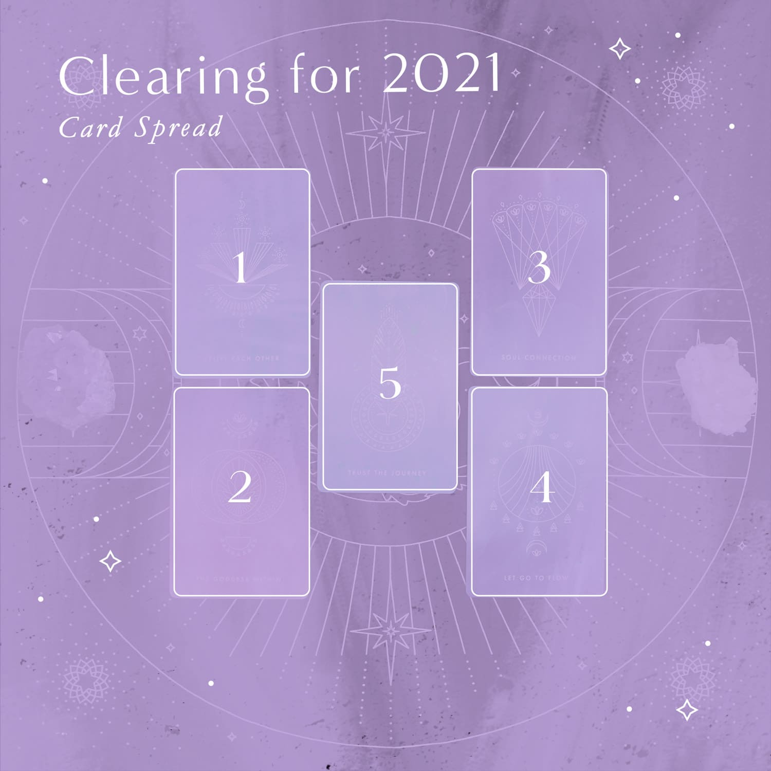 A 5-card spread to help you release and clear in preparation for the new year.