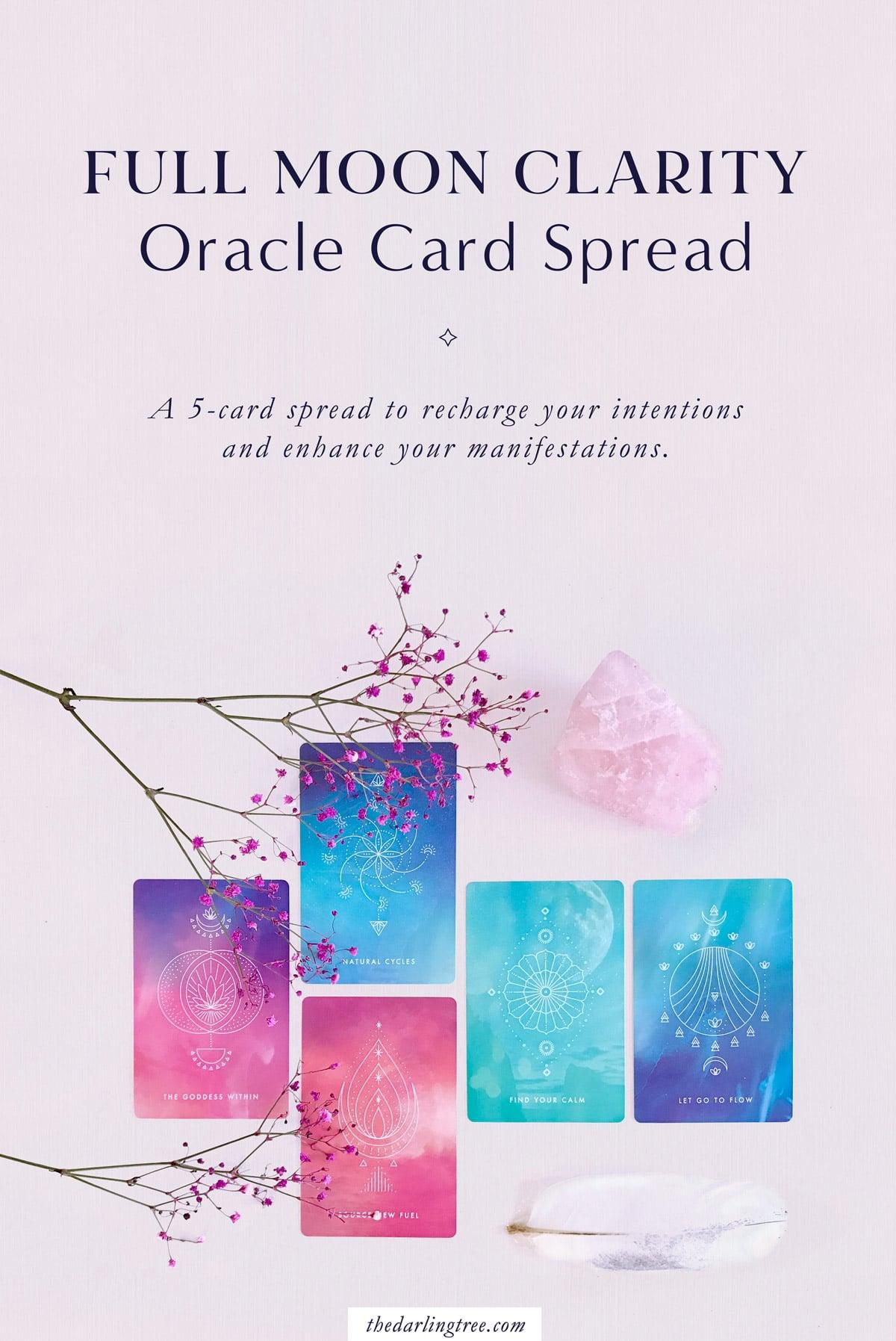 Full Moon Clarity Oracle Card Spread